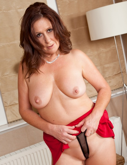 Brunette hot busty matures