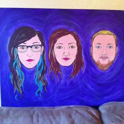 mcfangela:  codename—dutchess:  beccafett:  Amazing roommate painting from our lovely friend Sara! So glad this exists!  i dont have words for how perfect and amazing that is!!!!!  NEITHER DO I!!!! I CANNOT GET OVER HOW PERFECT THIS PAINTING THIS BEAUTIFUL WOMAN SARA RIVAS IS.  Sara Rivas is Magic!!!
