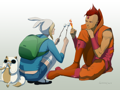 F is for Fionna and Flame Prince by *doubleleaf