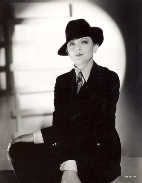 Myrna Loy suited up