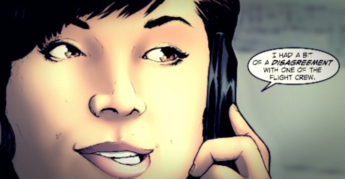 Lois Lane in this week's #SmallvilleS11 chapter 41. Love how she is biting her lip.