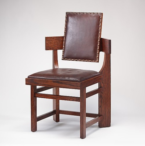prairieschoolarchitecture:  Frank Lloyd Wright, Side Chair from the Francis W. Little House, 1902-1903 Metropolitan Museum of Art