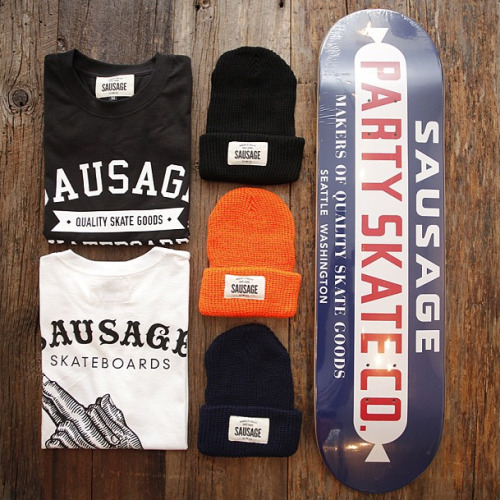 New Sausage Skateboards Spring gear at  Alive & Well Seattle  photo: Avi Loud