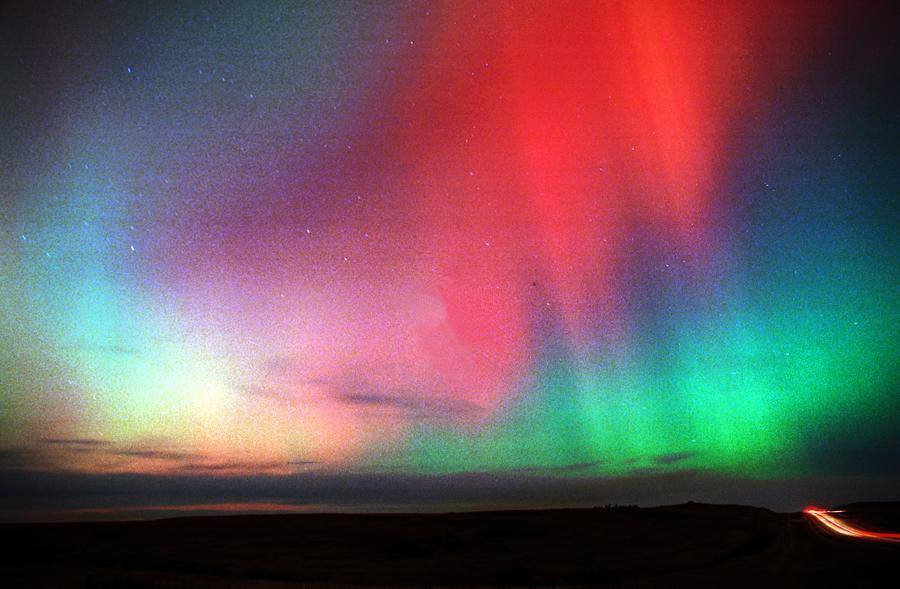 crimsun:  Northern Lights and Tail Lights (by photoranger54)