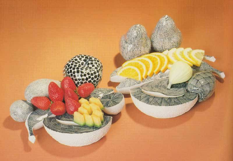 aqqindex:  Karen Theusen Massaro, Paired Fruit Servers II, 1988