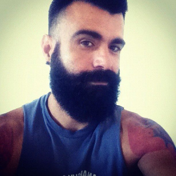 Home grown beard #beard #losangeles #tattoo #jsilverlake Jsilverlake.com #homo