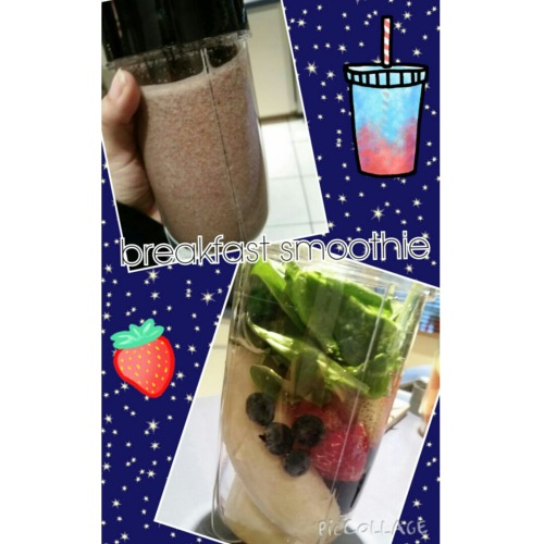 As some of you know ive been dieting and exercising daily. Trying eagerly to change some bad habits and feel great about my body.  This is my 4th week into this whole lifestyle change. As motivation to myself and hopefully some one out there that needs it I figured id share what ive been doing every morning this week these breakfast smoothies are great! They really fill me up and get me ready in the morning. I also drink 224oz bottles of water infused with lemon and some type of fruit ill share a pic on the pumpup app follow me as jenlovesmakeup. If you want to see more of my daily lifestyle changes and pics let me know in the comments.