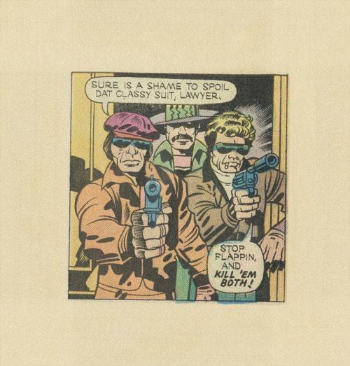 ISOLATED COMIC BOOK PANEL #324title: 1ST ISSUE SPECIALS #5: MANHUNTER - P15:3 artists: JACK KIRBY, D. BRUCE BERRY year: 1975