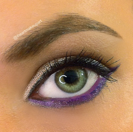 Urban Decay purple eyeliner Lust: more details on instagram page iheartmakeupart