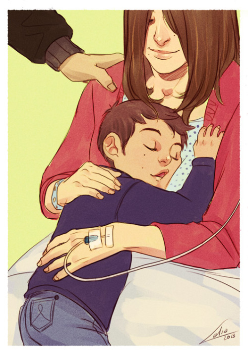 monkeyelbow:  I'm gonna miss you by *Lelia Stilinski family,  Stiles' last days with his mother before her death. They will miss each other.
