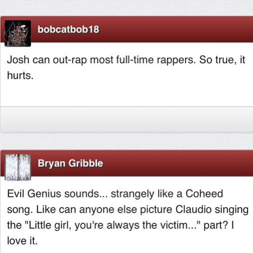 These #AbsolutePunk comments are a lot more constructive than those on last month's #PunkNews write-up. Kinda shocking :P