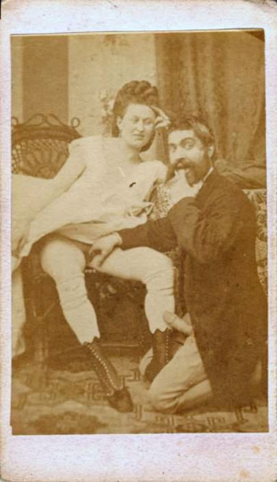 ca. 1860's, [silly, pornographic carte de visite of a couple] via  Carl Mautz Vintage Photography, Carte de visite Collection