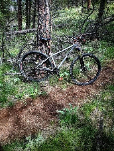 Love my hardtail! I've been missing her, mostly she has been my commuter since the end of last summer since I got my hands on my rocky mountain element 29er. But today felt like a hardtail ride and boy have I missed riding this awesome bike in the woods. I need to do it more often.