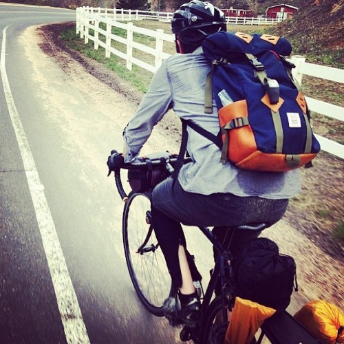 coffeentrees:  Our leather bottom Klettersack getting a bit of road time on @averycountycycles via @berkeleysupply by topodesigns