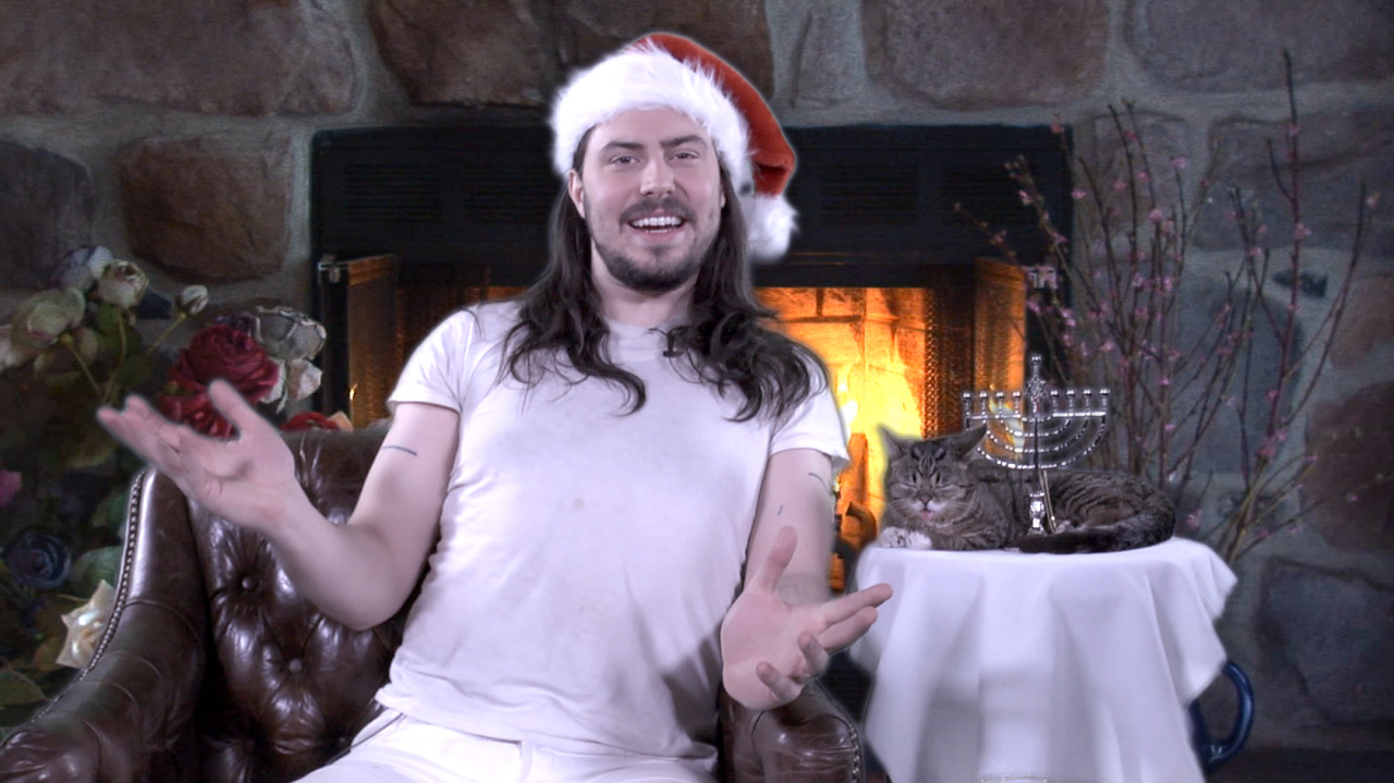 A Very Special Holiday Message from Andrew WK and Lil Bub