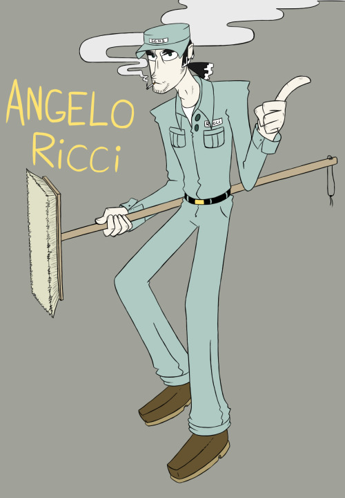 Resident janitor, Angelo Ricci ready to put up some more goddamn bullshit.