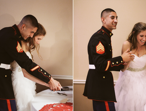 armedforceslove:  armedforceslove:  My husband and I, our wedding December 22, 2012. I've been married for 2 months today! :) And with my husband for more than 5 years. sam4love.tumblr.com  Reblogging her submission because it's so cute (: