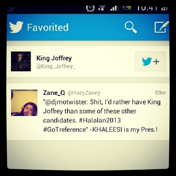 My tweet have been GOTified! It went all the way to westeros! @King_Joffrey_ @djmotwister #GameOfThrones