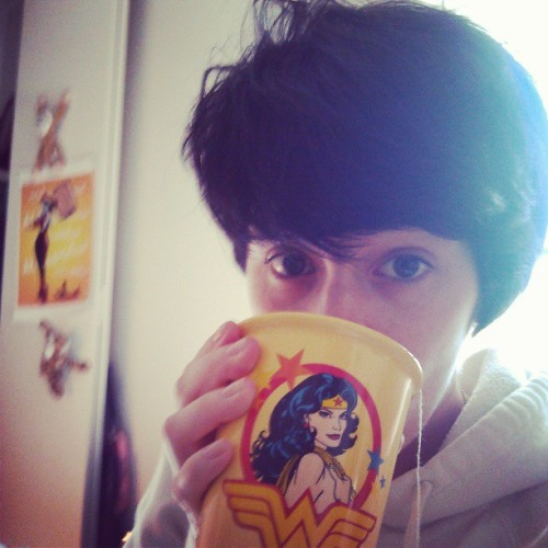 #goodmorning #bedhead #messyhairdontcare #whyamiupthisearly #wonderwoman