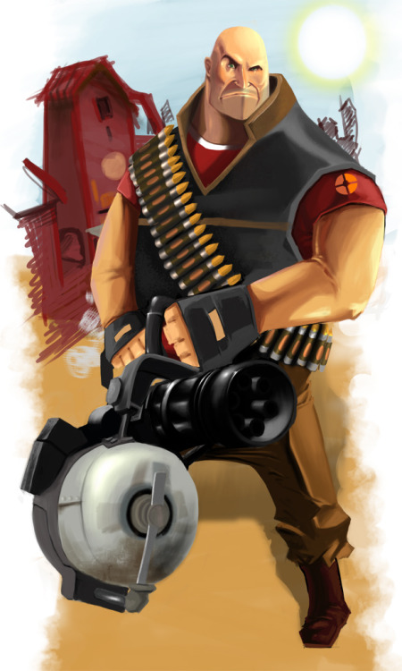 thecyberwolf:  Heavy Weapon Guy  by  Loris Ori (Spankye)