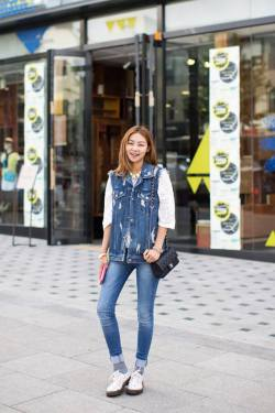 koreanmodel:  Streetstyle: Song Haena shot by Park Jimin
