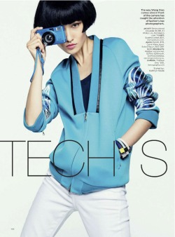 tech support: wang xiao by sebastian kim for lucky june/july 2013 | visual optimism; fashion editorials, shows, campaigns & more!