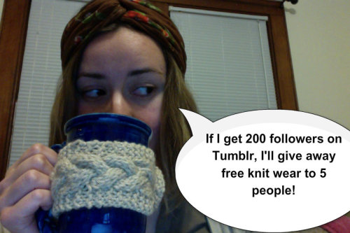 wordsnyarn:  Really, I promise! I'll give away 5 delightful things I knitted.  Repost this pic!
