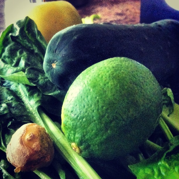 Easily Green. #juicing #lime #cucumber #celery #spinach #apple #ginger #OperationFitThatTux #bestmanproblems