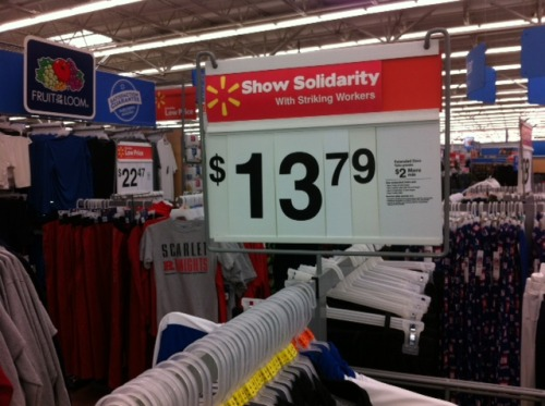 rebrandwalmart:  Show Solidarity with Striking Workers! On Black Friday in NJ. Get your own signs here!