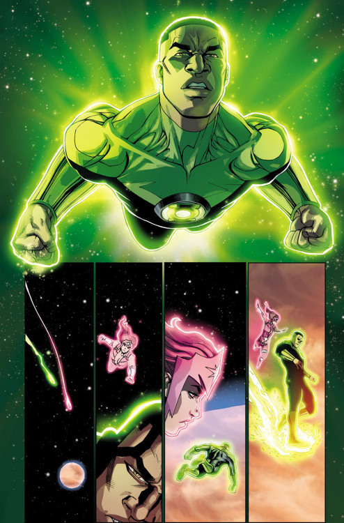 van-jensen:  Page one of Green Lantern Corps #21 from DC Comics. Art by Bernard Chang and Marcelo Maiolo. I did some interviews for the coming launch of my first issue on Green Lantern Corps, which are linked below. I'm having a blast writing this book, and I get to work with crazy talented artists (proof above). Interviews below: Newsarama Comic Vine Comic Book Resources Gamma Squad