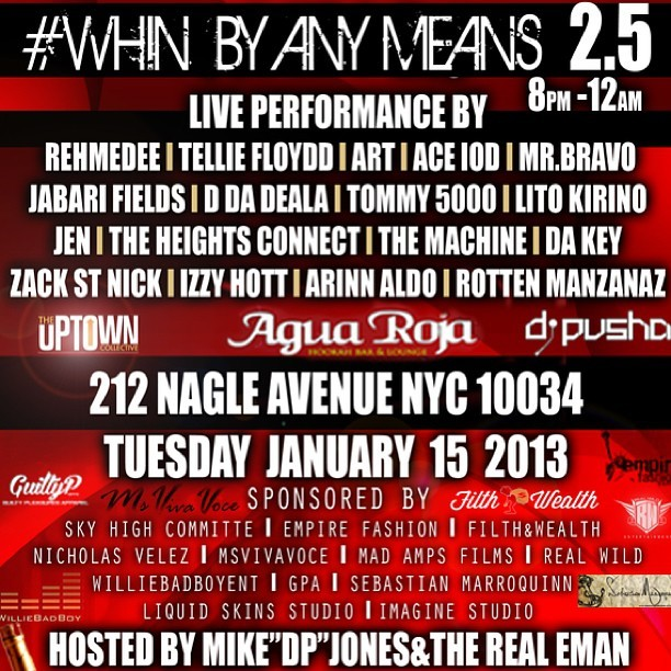 WHIN BY ANY MEANS 2.5 @AguaRojaLounge