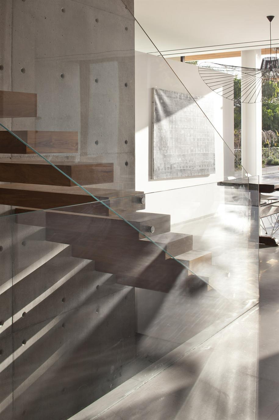 Staircase At The KFAR SHMARYAHU HOUSE By Pitsou Kedem Architects