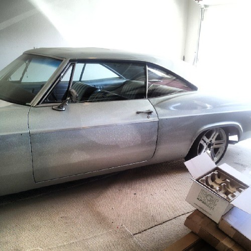 #66 #impala #LA #Cali #beachlife #beach pops got the classic on deck!