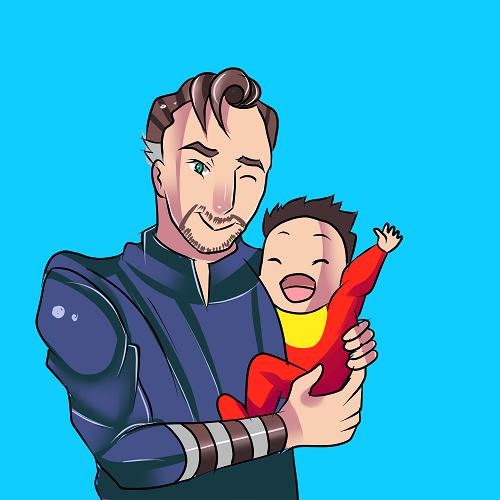 Hiya! Here is some Baby!Ironstrange. #mcu#marvel#Iron Man#tony stark#doctor strange#Stephen Strange#fanart#fan art#baby#ironstrange