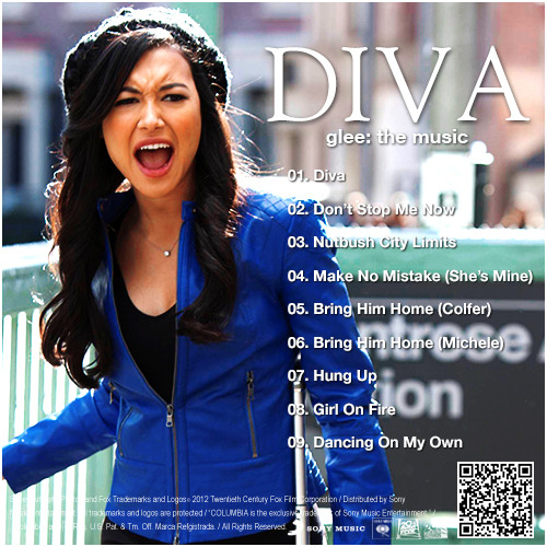 Glee: The Music, Diva Alternative Album Back Cover With Extra Song