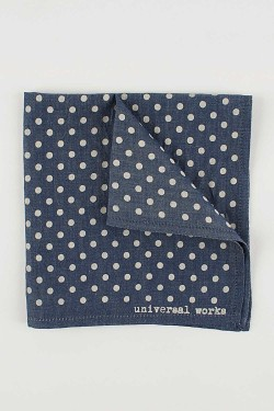 monopolist:  Universal Works Blue Pocket Square