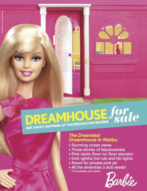 It's official, dolls… I'm moving! The search for a new Dreamhouse starts now! Facebook.com/Barbie