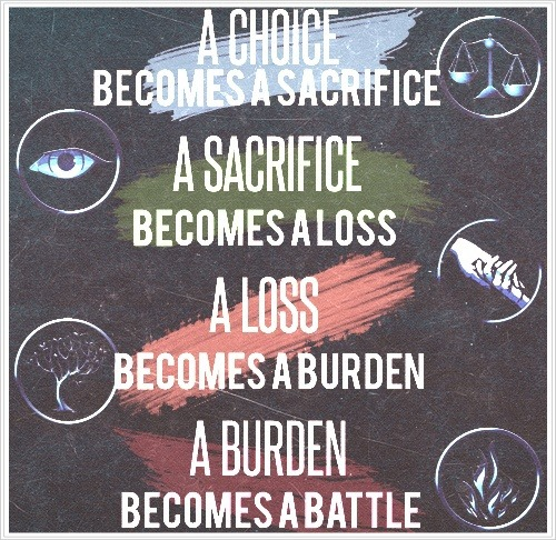 mugglelovesmagic:  a choice, a sacrifice, a loss, a burden