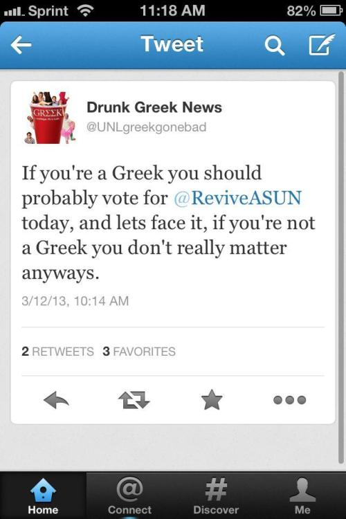 Excuse me, UNL Greeks? I have friends who are in the Greek system at UNL, but I'm actually super disgusted by this. I'm not going to say any more because I'll start angry ranting.