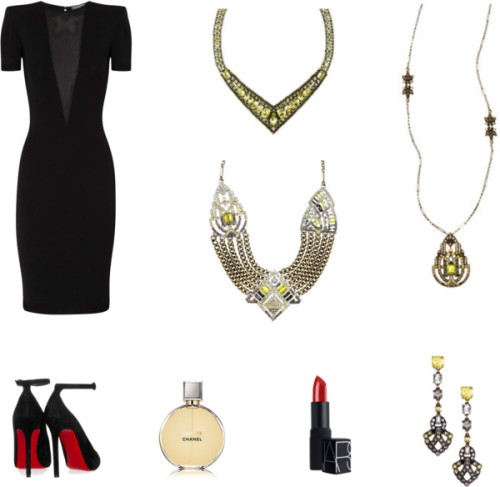 Your LBD doesn't have to be boring or simple. Take  your favorite little black number to a new level with colored jewels. These pieces reminded me of the Great Gatsby so I had to post in spirit of the movie release! <3  Shop accessories: www.chloeandisabel.com/boutique/amandaberryhill