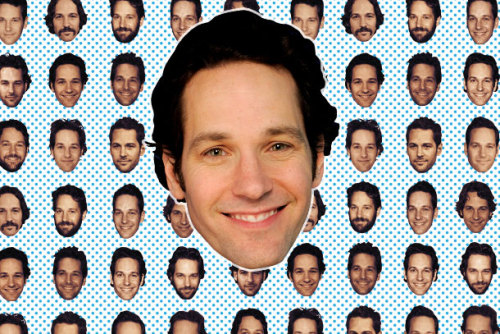 Paul Rudd Face Party. I think we should all make cutouts of Paul Rudd's faces from this quiz and hang out at a bar together. It wouldn't be creepy or weird at all.