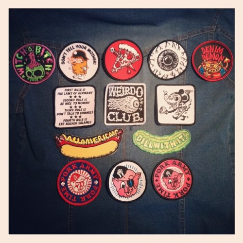 katieaaberg:  So many choices!!! #patches #porkshop #porkarmy  AT THE PORK SHOP