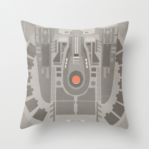 NX-01 pillow!!?  This shit right here could be the reason the downstairs gurls make fun of me when they come to visit…but I have a mighty NEED! By: Jessica Buie Society6