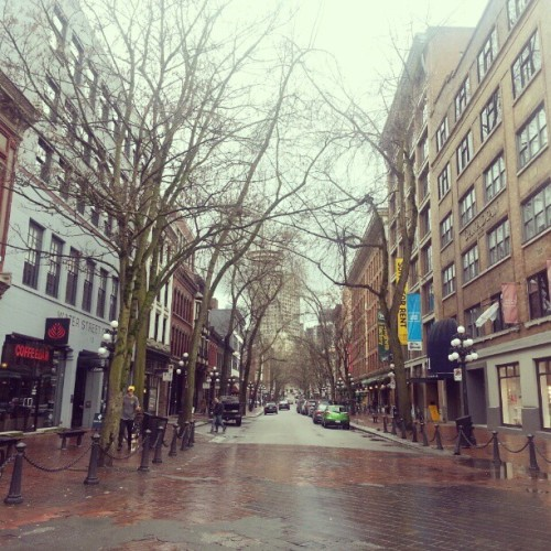 Gastown on a lazy afternoon #gastown #vancouver #emptystreets