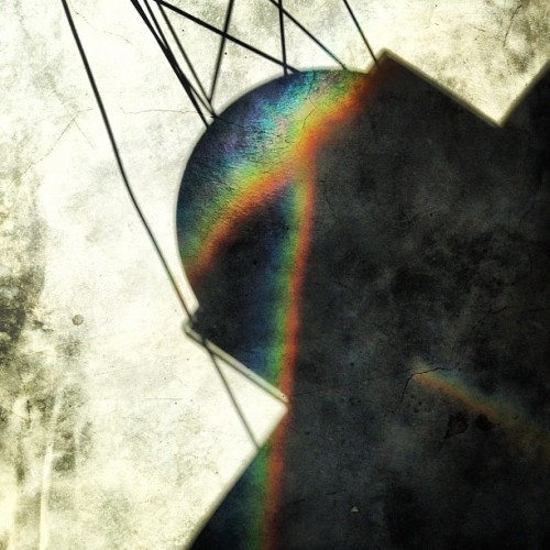 #rainbow #shadow #concrete #floor