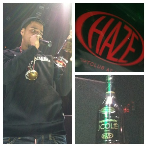 At this point, #jcole had taken a sip then passed the bottle around….. #haze #vegas #coleworld
