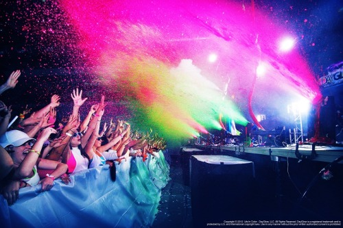 scattered-eclectic:  Well this is what I'm working tonight. Life in Color: Rebirth, the worlds largest paint party. I loved knowing you guys, it's been great.