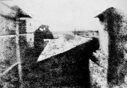 fuckanimals:  The first photograph ever taken, in 1827. View from the Window at Le Gras by Nicéphore Niépce.