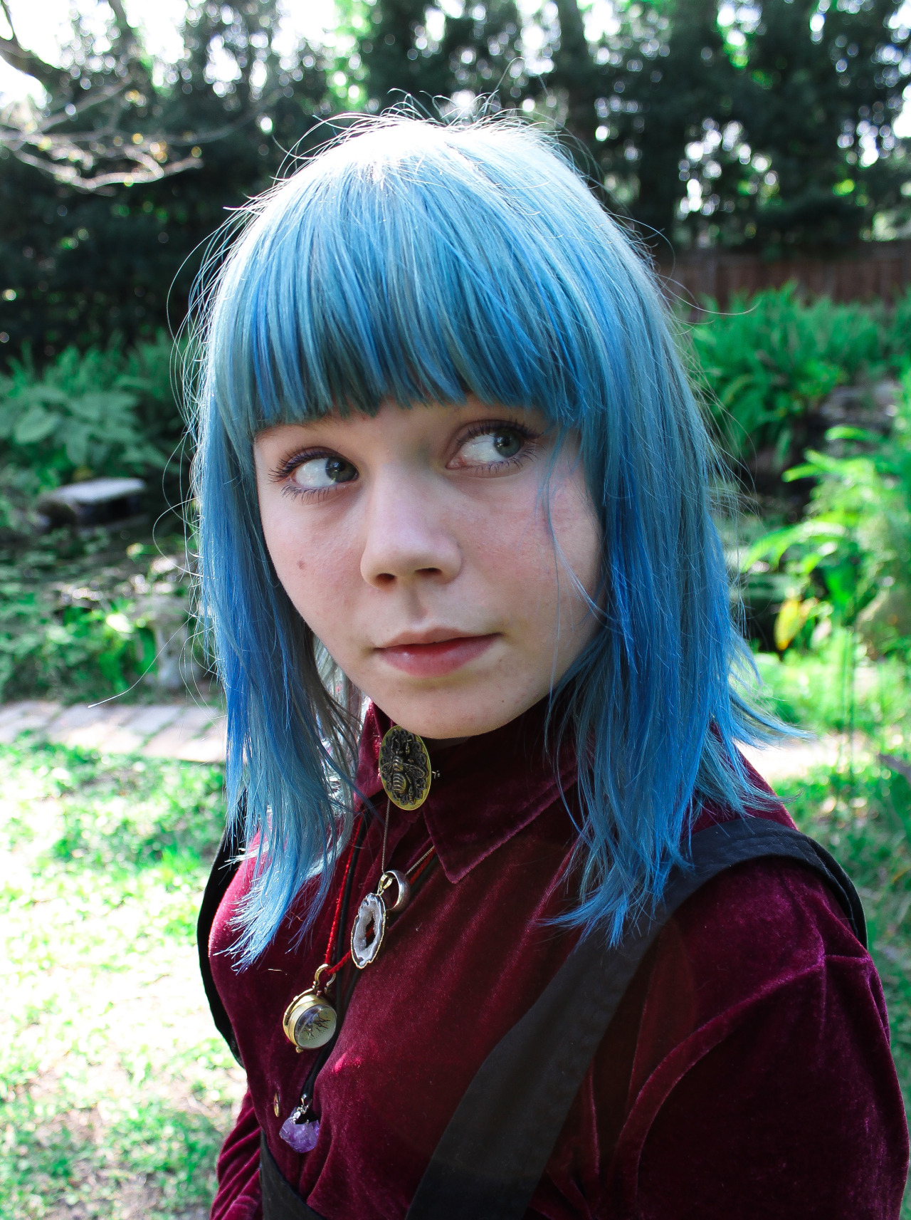 Hey it's an actually high quality picture of my blue hair, yay!
