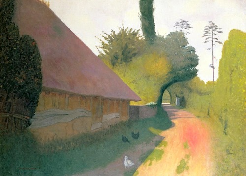 bofransson:  The barn with the great thatched roof - Felix Vallotton
